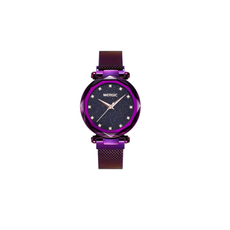 Top relogio feminino quartz Watch For Women Rose Gold Mesh Magnet Starry Sky Wristwatch Gradient Ladies W rist Watches enlarge