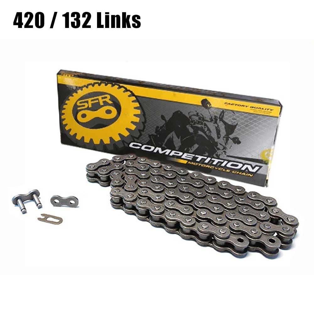 سلسلة قيادة للدراجات النارية 420 132L ، للطرق الوعرة ، رباعية ، موتوكروس ، BMX