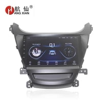 hang xian 9 quadcore android 8 1 car radio for hyundai elantra 2014 car dvd player gps navi bluetooth wifi steering wheel
