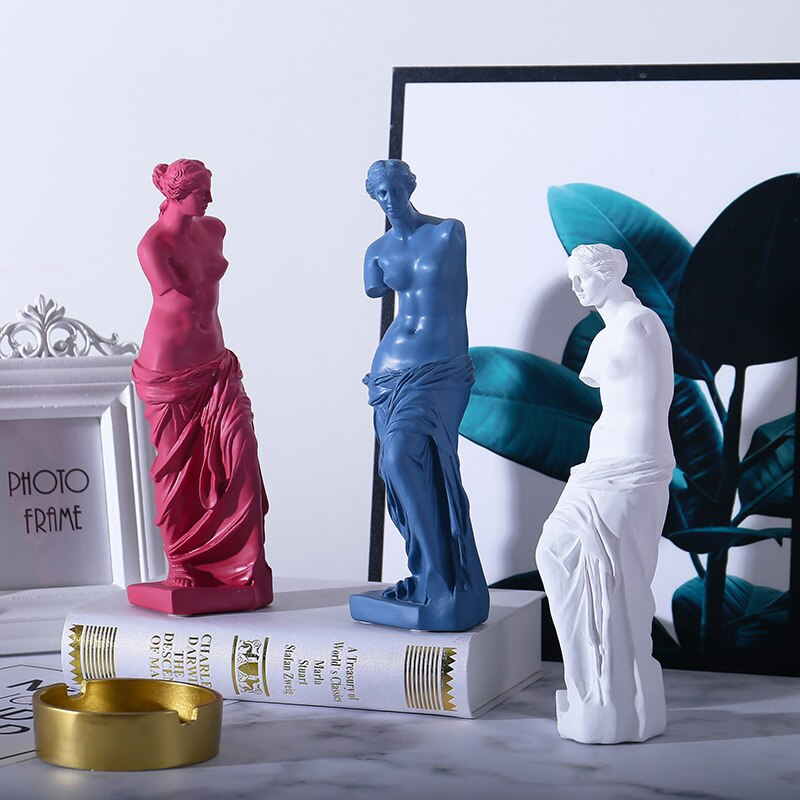 Nordic Venus Character Sculpture Resin Goddess Statue Home Decoration Accessories Attic Statue Modern Craft Gift