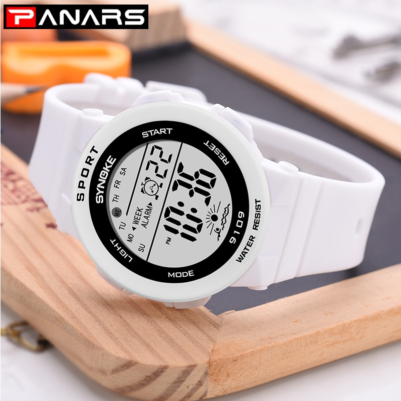PANARS Women Watch Multi Function Watch Waterproof Sport LED Alarm Stopwatch Digital Child Wristwatch for Ladies Girl Boy Gift