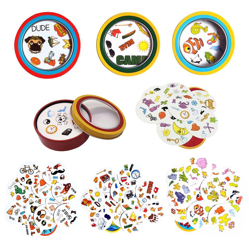 2019 bord Spiel Karten Spot Für Kinder Englisch Version Mit Metall Box Bildung Spielzeug Party Spielen Klassische Spiel Karten