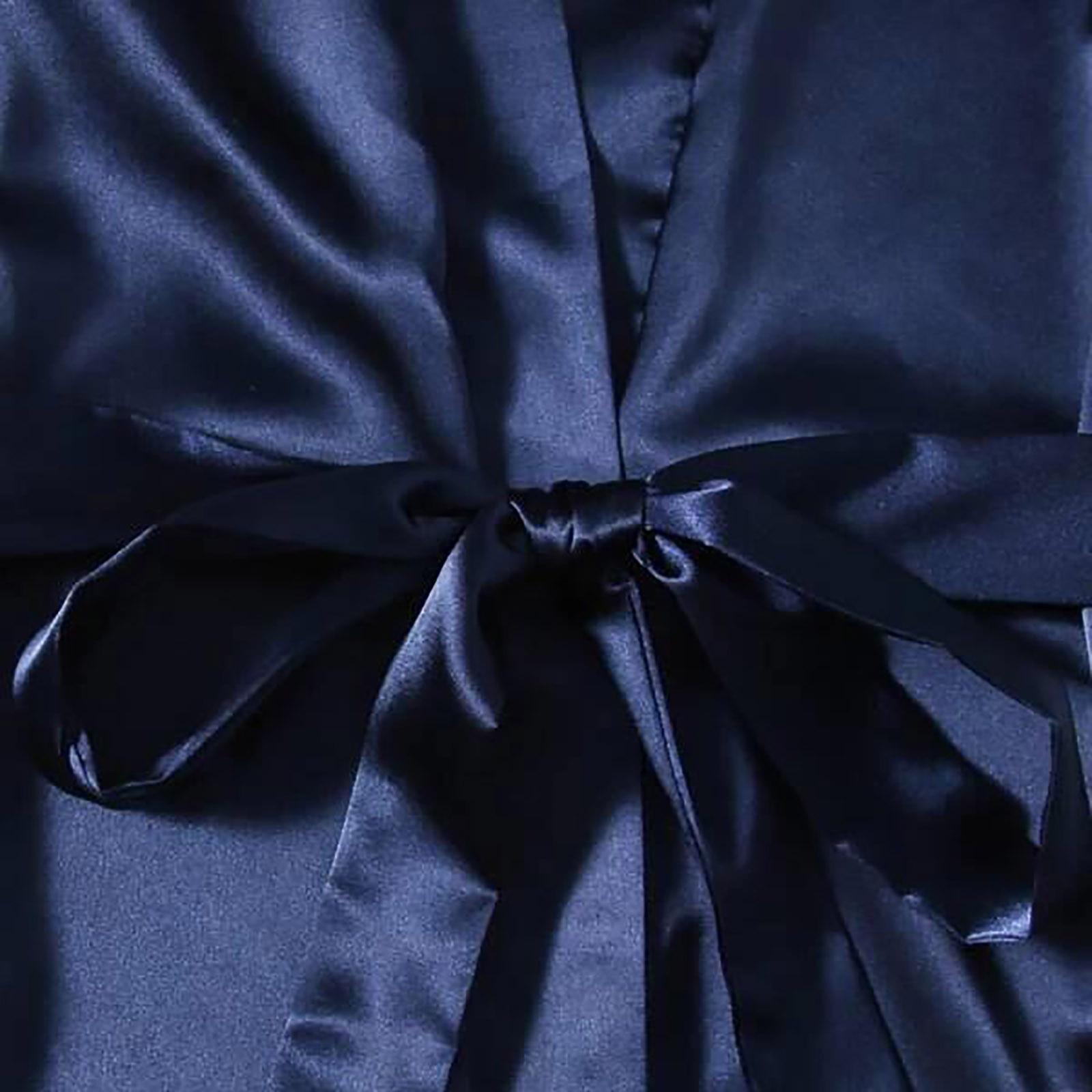 Женщины% 27 Шелк Пижамы Плюс Размер Сексуальное Нижнее белье Женщины Шелк Халат Атлас Халат Пижамы Пижамы Ансамбль Нюизет Femme E1