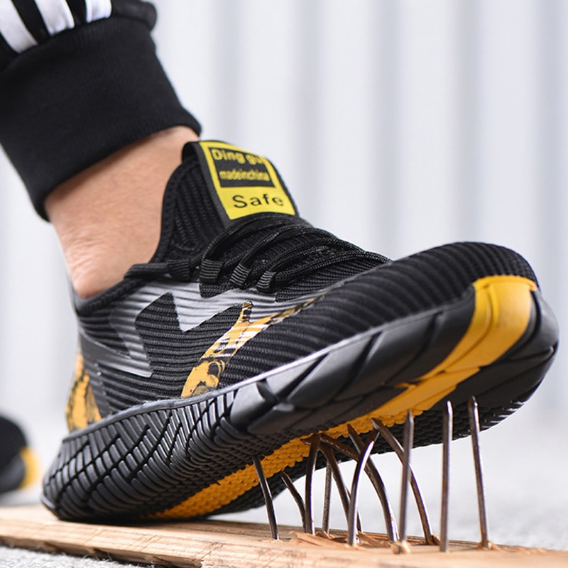 Male Indestructible Work Shoes Sneakers Men Boots Anti-Puncture Safety Shoes Men Anti-smash Work Boo