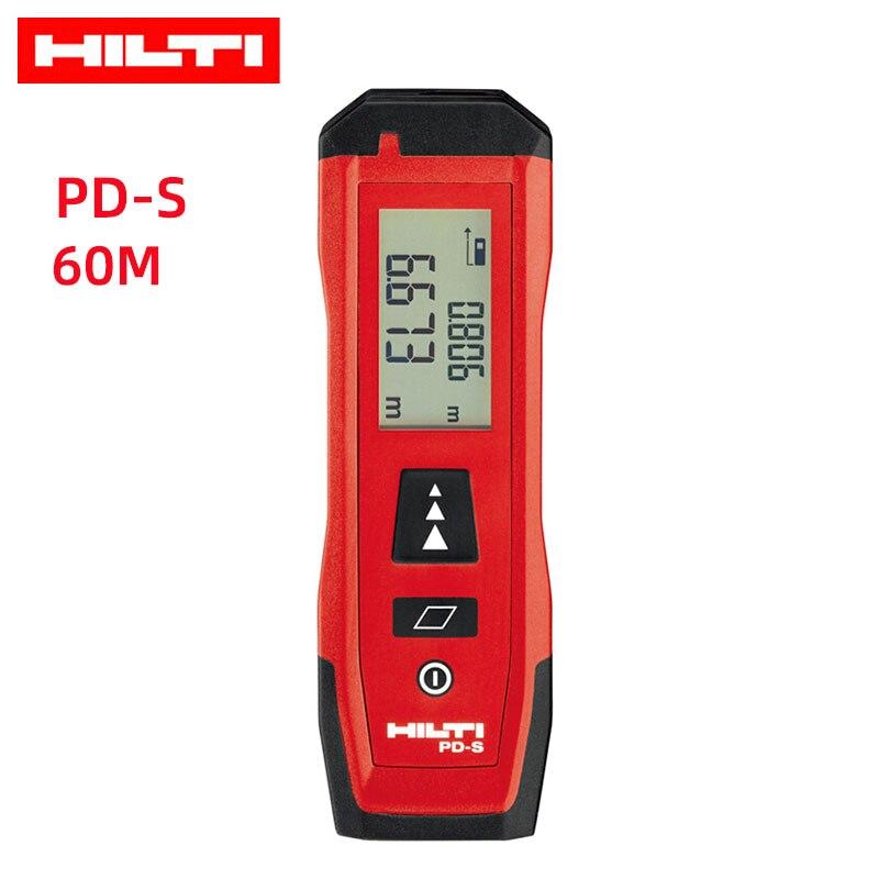 HILTI Laser Distance Meter Range Finder Hunting Digital Handheld 60m Tape Measurement Tool PD-S PD-I PD-E Area Laser Rangefinder