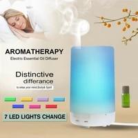 Mini humidificateur dair ultrasonique USB  125ML  diffuseur darome  veilleuse Led 7 couleurs  aromatherapie  huile essentielle pour maison et bureau en voiture