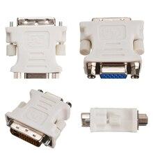 DVI-D mâle à VGA femelle convertisseur vidéo adaptateur DVI-D 24 + 1Pin à 15 broches VGA adaptateur câble pour ordinateur portable