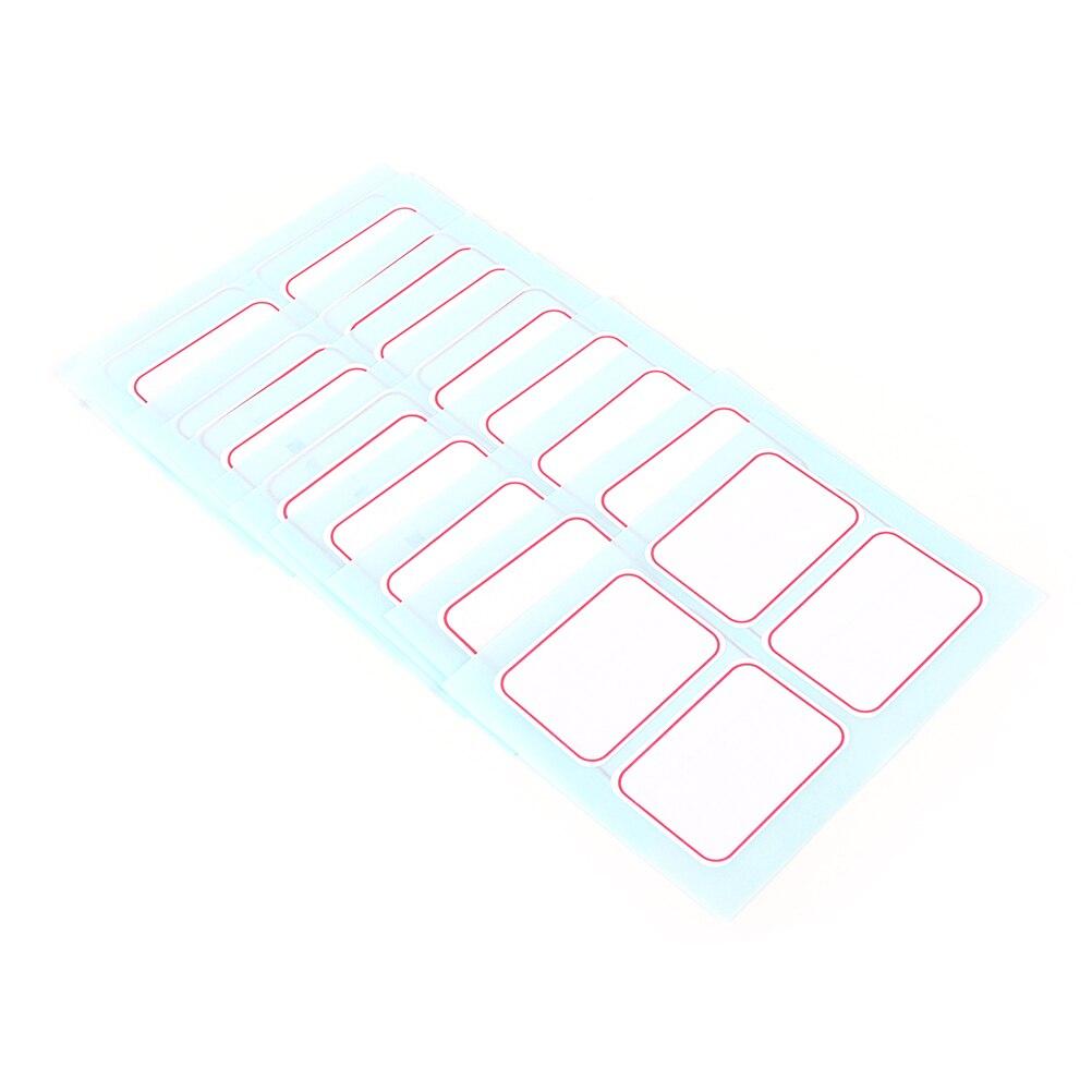 12 шт. самоклеющиеся клейкие этикетки записываемые Имя Наклейки пустые этикетки для заметок 35x50 мм белые пустые и синие