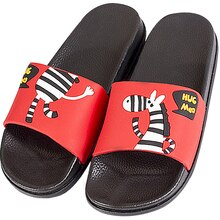 Lato para Cartoon Zebra miękkie dno klapki plażowe slajdy na łazience sandał kobieta klapki FlopsThick dno Sandalias De Mujer