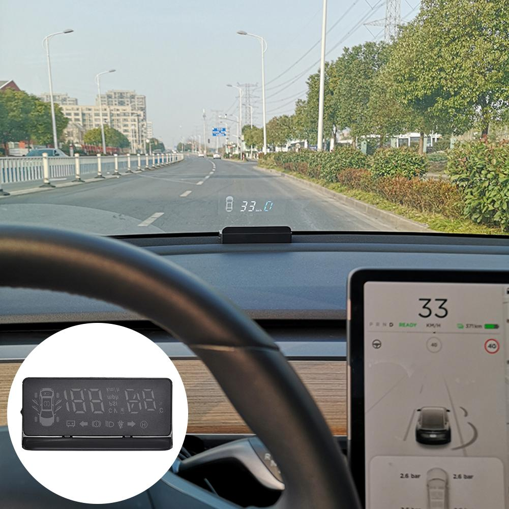 Модернизированный автомобильный монитор, дисплей на голове, Многофункциональный монитор, универсальная сигнализация для автоматического ...