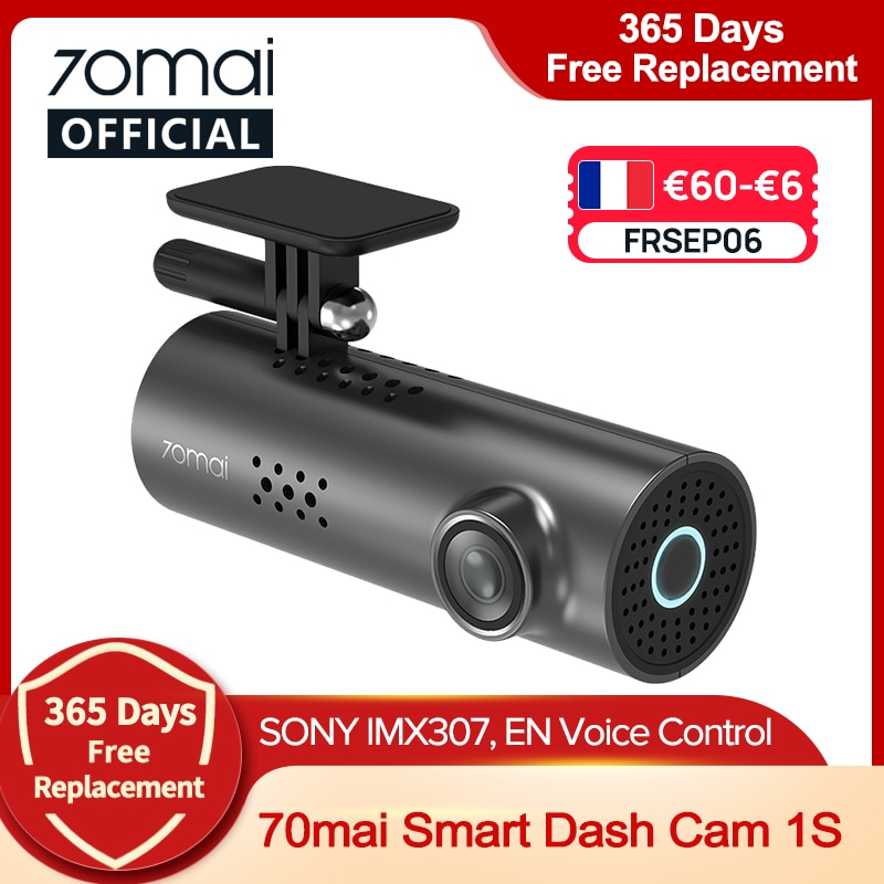 99SD04 $40-4 70mai 자동차 DVR 1S APP 및 영어 음성 제어 70mai 1S 1080P HD 야간 투시경 70mai 1S 대시 카메라 레코더 WiFi 70mai Dash Cam