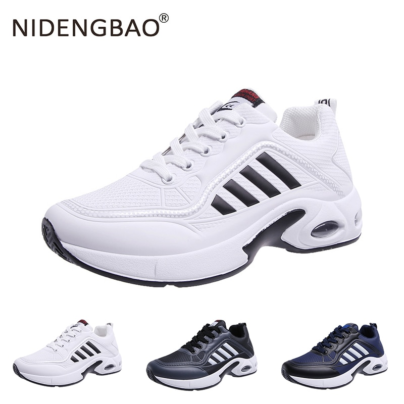 Running Shoes For Men Lightweight Outdoor Sport Shoes Men Air Sole Breathable Training Fitness Shoes Black White Men Footwear