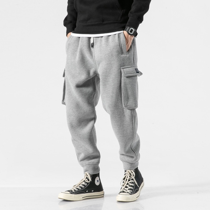 Trendy Brand Spring and Autumn Sports Loose Large Size Skinny Closed Workwear Pants Sweatpants Men's Jogger Pants Casual Autumn