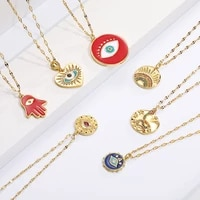 boho evil bllue eye necklace for women men snake all seeing eye collar necklace gold pendant long chains couple necklace punk