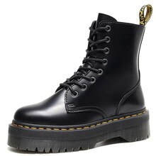 Martens Boots 8-hole Soft Leather Shiny leather Martin Boots Women Painting Doctor Boots Men Women A
