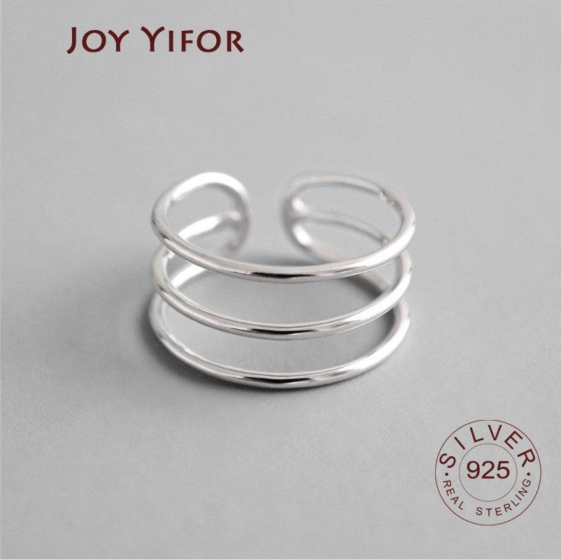 Регулируемое-кольцо-из-серебра-925-пробы-в-ретро-стиле-с-тремя-линиями-открытое-женское-винтажное-модное-серебряное-Ювелирное-Украшение