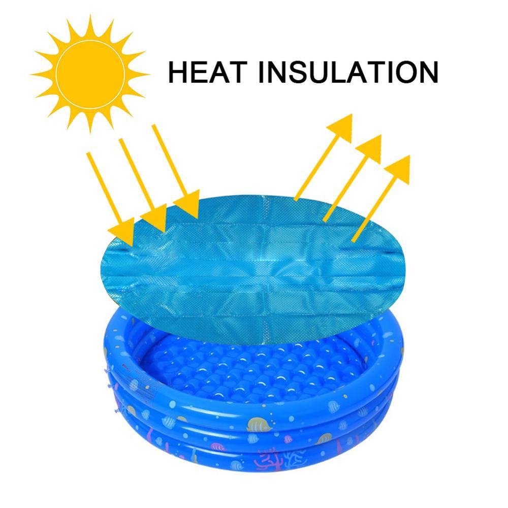 Solar piscina cubierta 4ft 5ft 6ft 10ft diámetro ronda fácil conjunto sobre la tierra de Metal marco de la cubierta de la piscina de alta calidad Practica