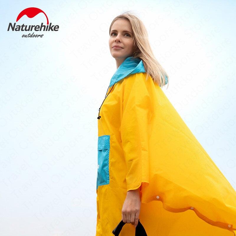 Naturehike de moda a prueba de viento chubasquero para Camping Poncho para senderismo portátil ultraligero abrigo con mochila al aire libre de cubierta de la lluvia