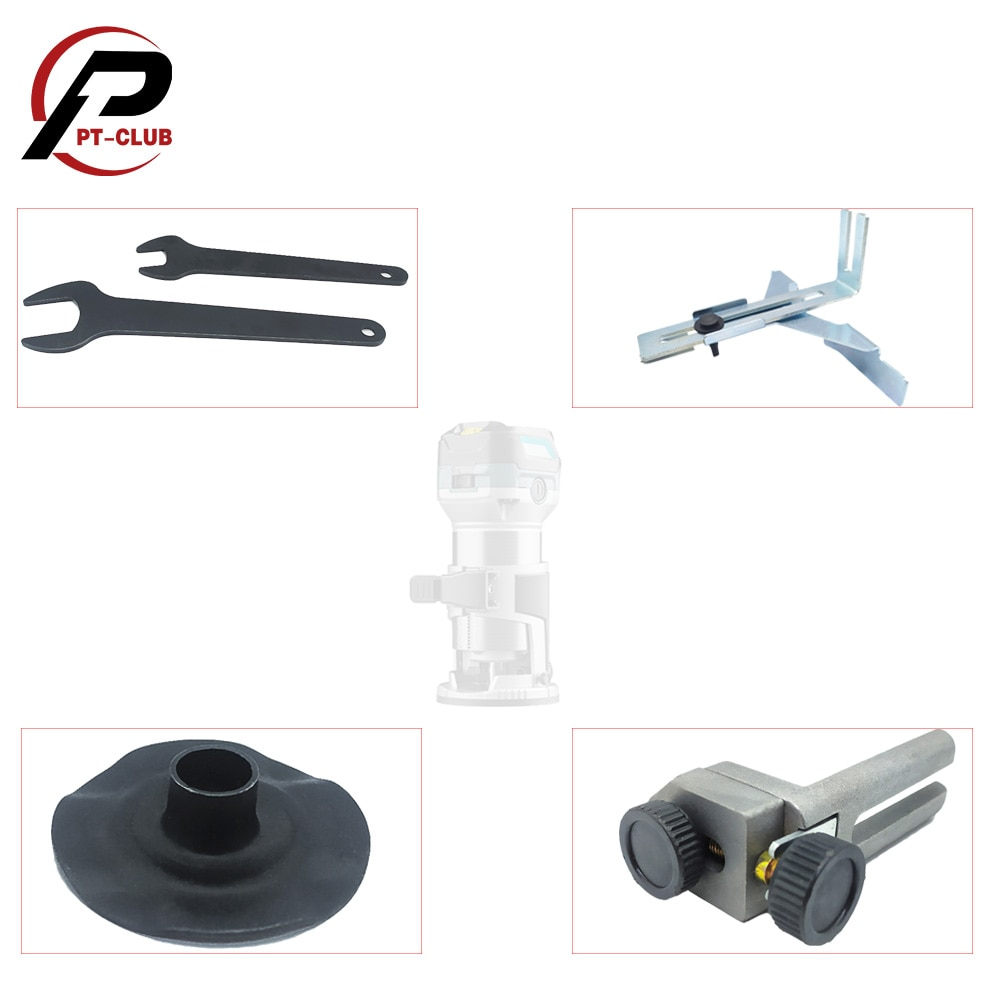 Router Edge Guide Template Guide Trimmer Straight Guide Trimming Machine Accessories Spanner Wrench for Makita birdfeeder guide