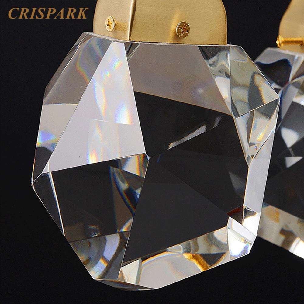 Postmodern Chandelier Lighting Luxury Irrecgular Crystal Pendant Light Staircase Loft Hanging Lamp Dining Table Light Fixture