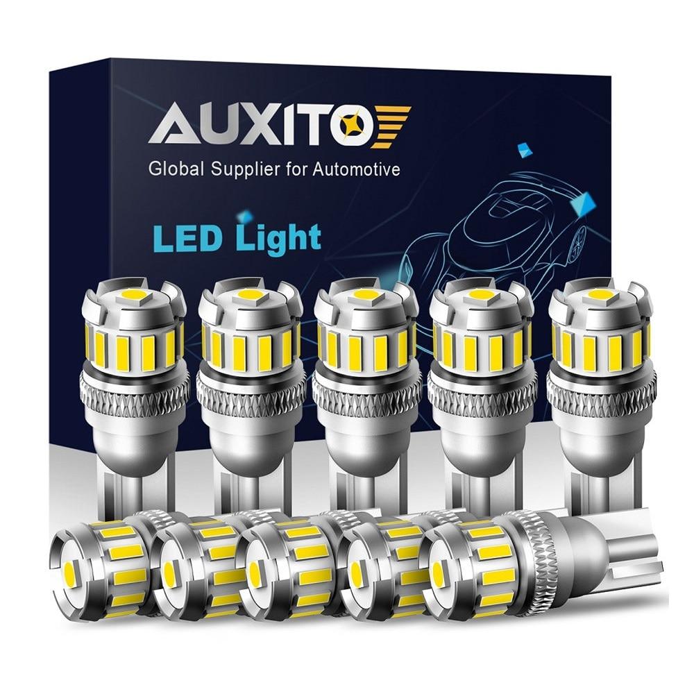10X W5W T10 LED bombillas LED Canbus para Honda Ford Toyota Kia estacionamiento posición luces Interior mapa Domo luces 12V blanco 6500K