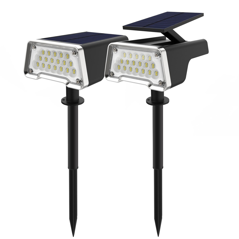 36 светодиодов, ландшафтные прожекторы IP67, водонепроницаемая лампа на солнечной батарее, настенный светильник, уличные освещения для двора, ...