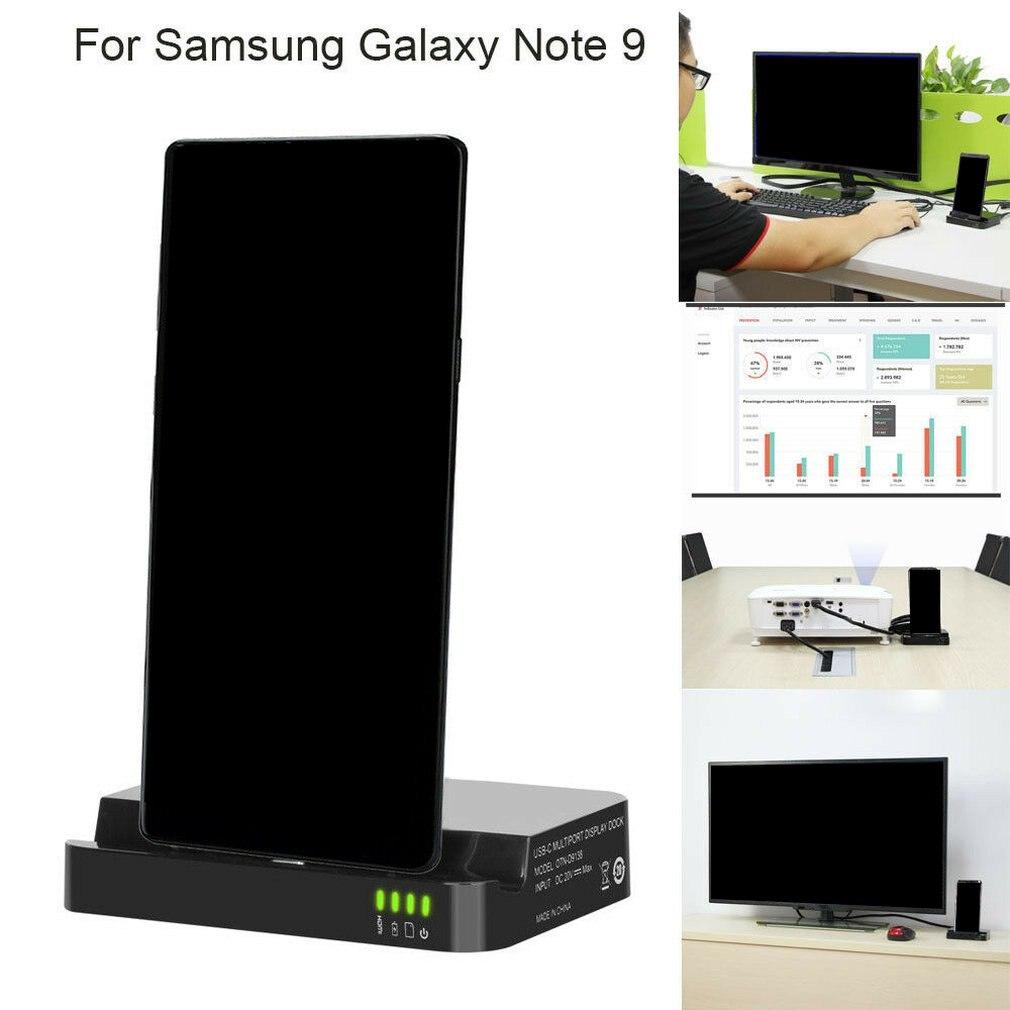 Estación Base de carga HDMI para Samsung Galaxy Note 9 cargador inalámbrico soporte de teléfono tipo c usb hdmi splitte nuevo
