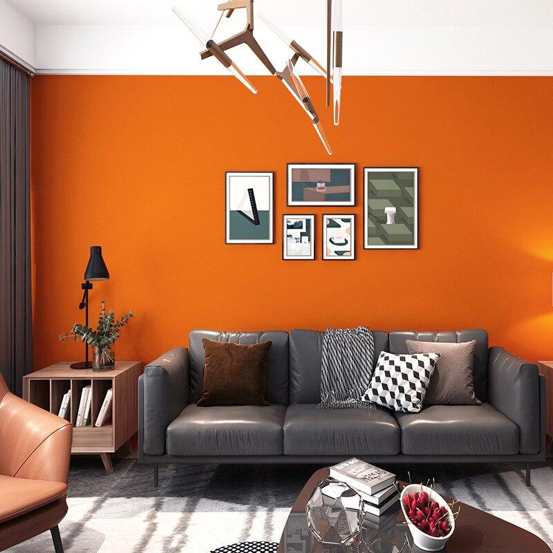 Обои оранжевые, красные, оранжевые, оранжевые, красные, оранжевые, для гостиной, спальни, Современные Простые искусственные обои