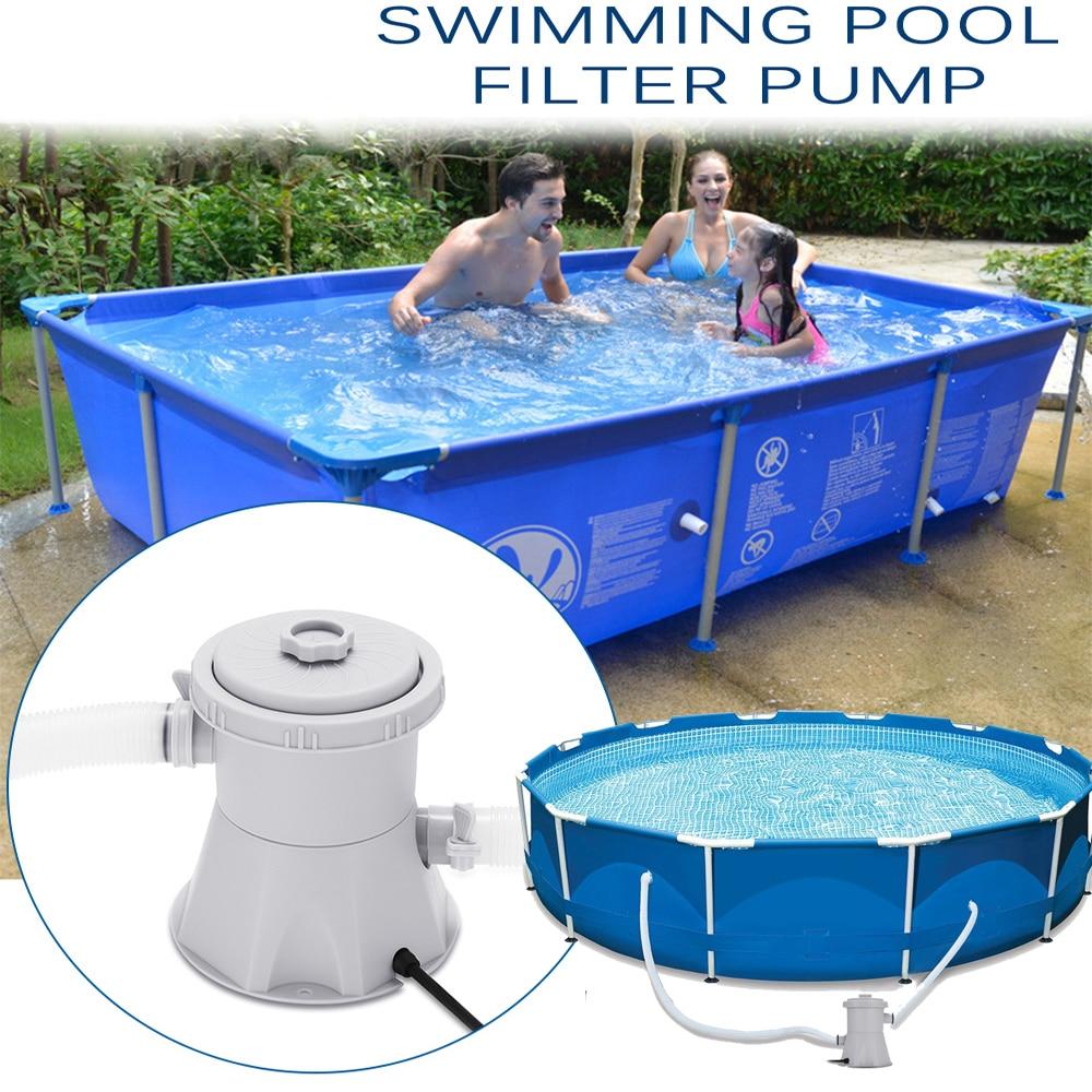 Bomba de filtro para piscina, limpiador de piscinas, bomba de circulación eléctrica para piscina, bomba de filtro de piscina, bomba de filtro para piscina para piscinas sobre el suelo, herramienta de limpieza para piscinas