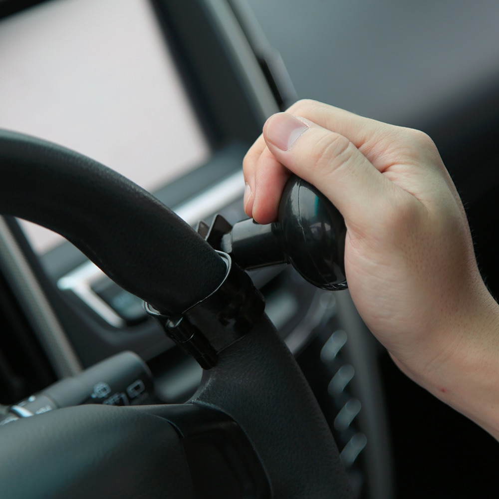 Lo más nuevo del volante del coche con la manija del volante de la bola de Control de la mano