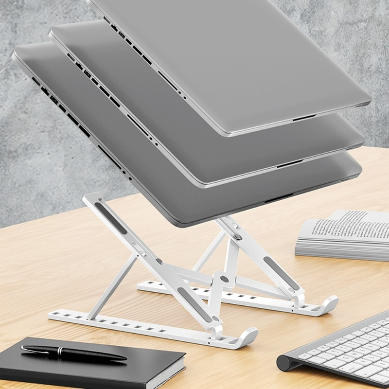 Protable Foldable Laptop Stand Adjustable Notebook Holder Support for Computer XXFF
