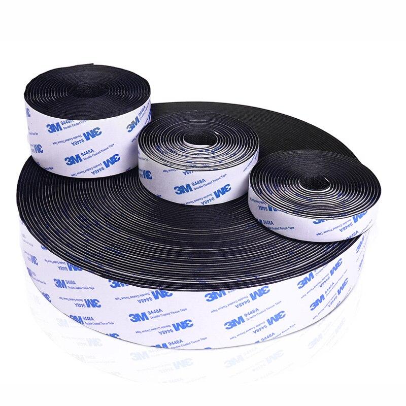 5M/pairs 16/20/25/30/38/50mm Velcros Adhesive 3M Glue Strong Self Adhesive Fastener Tape Nylon Hooks And Loops Sticker Magic DIY