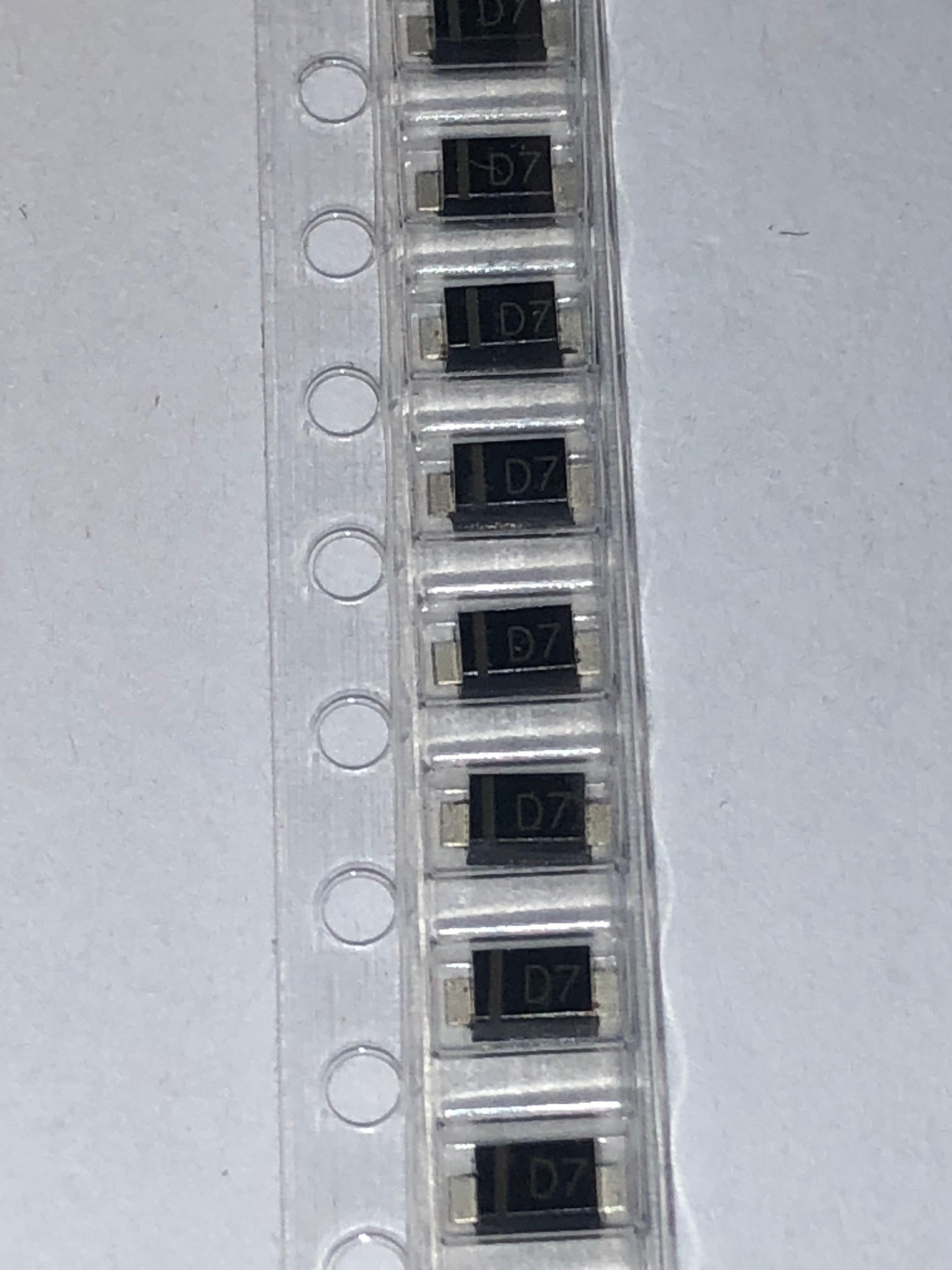 100 pcs/lot paste diode FM4007-M 1N4007 SOD-123 1206 D7 SOD4007