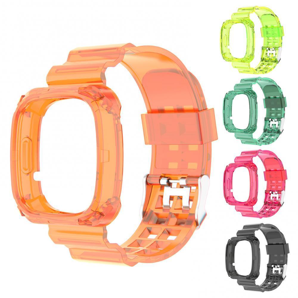 Smart Watch Wristband Glacier Transparent Belt One-piece Strap for Versa3/Sense Wearable Devices Smart Accessories smart watches mykronoz zetielpg wearable devices wrist watch accessories