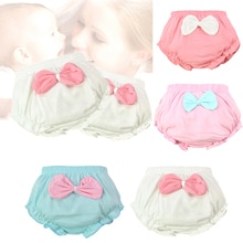 1pc Baby girl infant training Pants panties Cloth Diapers kids big bow underwear