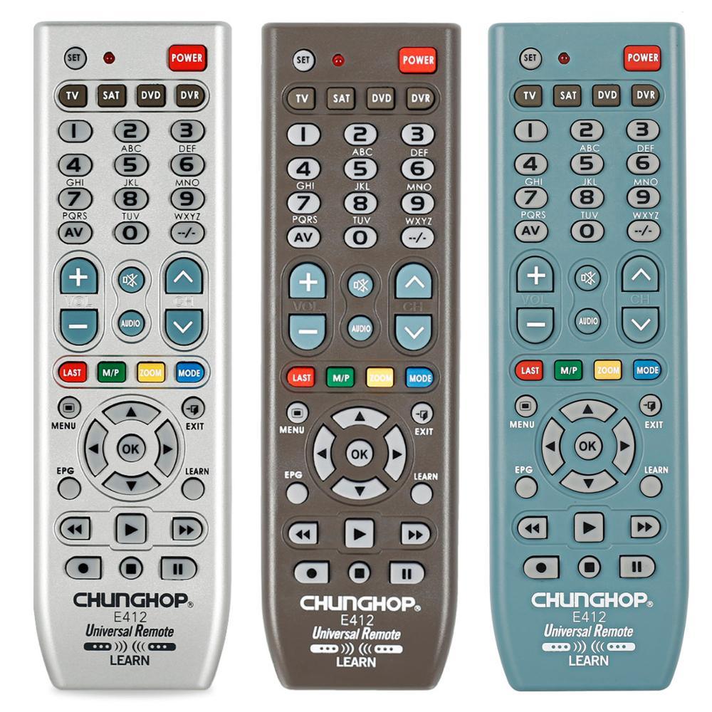 Mando a distancia Universal para TV chunghome Sat Dvd Dvr Palyer E412