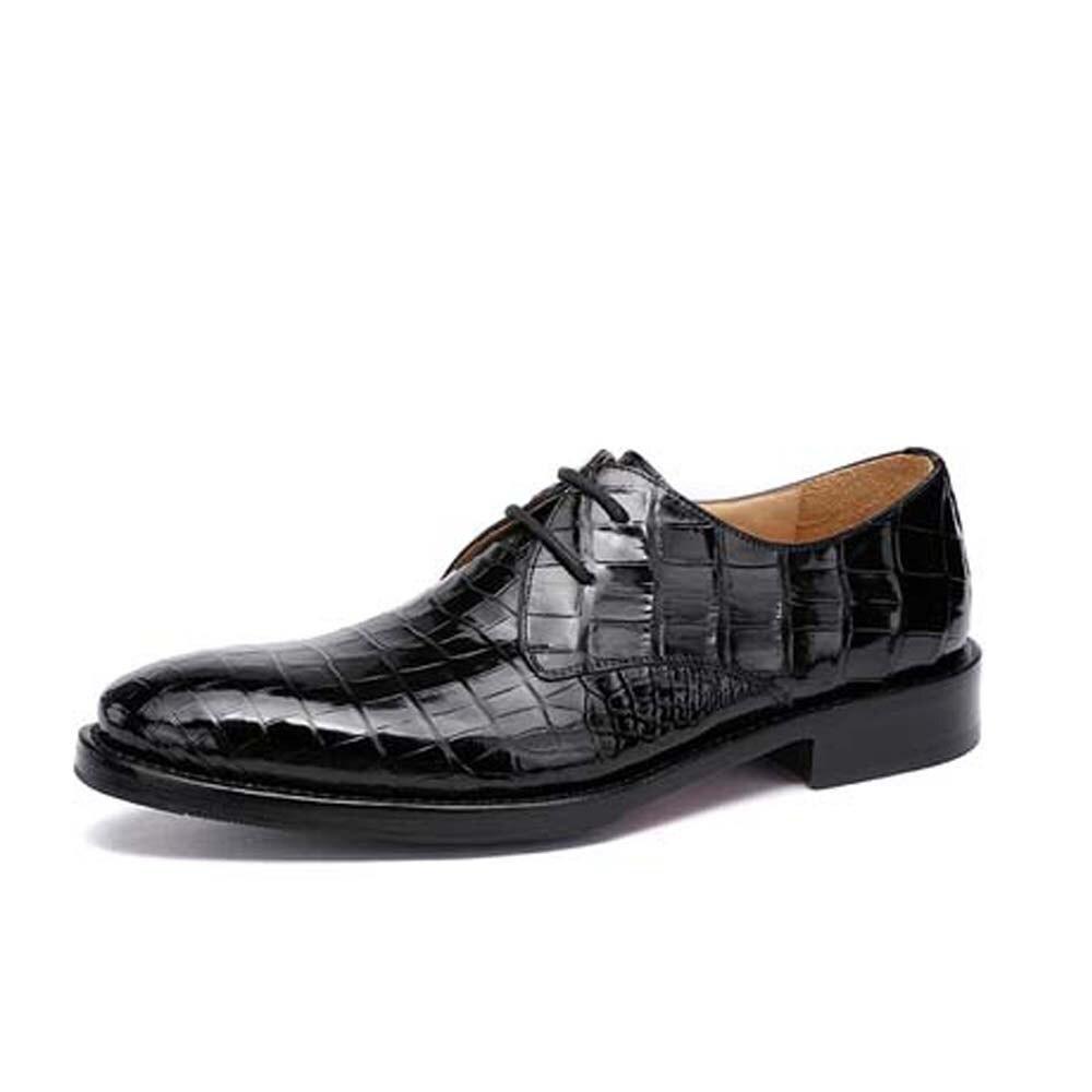 Hulangzhishi استيراد التمساح الرجال فستان أحذية عملية موضة مريحة الأعمال جلد التمساح الذكور الأحذية الرسمية