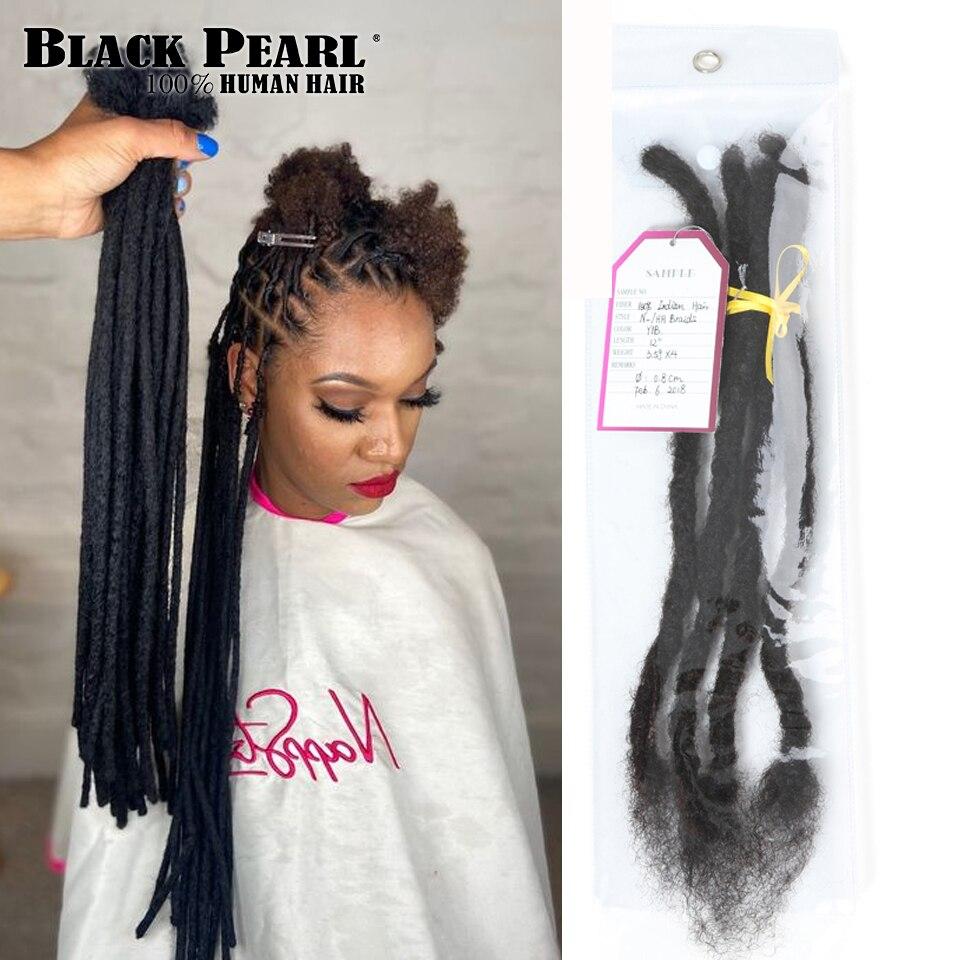 Black Remy Afro Kinky Curly Dreadlocks Crochet Braids 100% Human Hair Jumbo Dread Hairstyle Hand Made Dreadlocks Braiding Hair