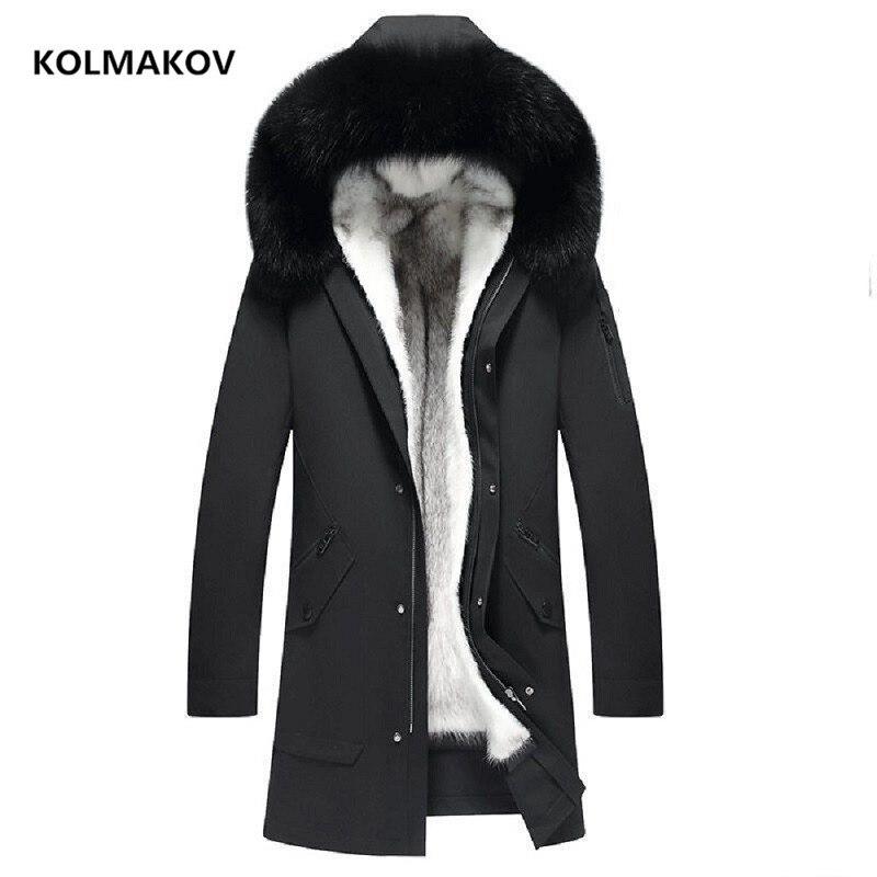 2021 new arrival winter natural fox fur collar &mink fur liner hooded parkas men,liner detachable warm jackets coat size M-5XL