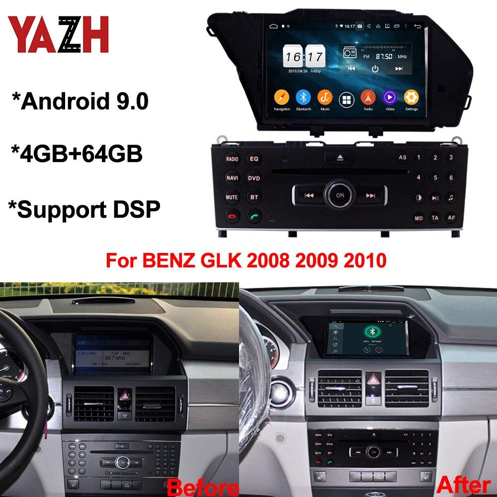 YAZH Android 10,0 Автомобильный GPS головное устройство для BENZ GLK 2008 2009 2010 4 + 64 Гб авто радио DSP Bluetooth 5,0 Восьмиядерный мультимедийный плеер
