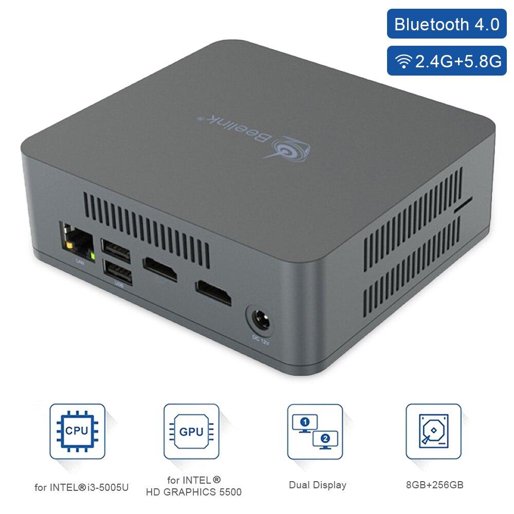 Mini PC U55 i3-5005U CPU Processor 8GB+128GB/8GB+256GB SSD 1000M LAN 5G WIFI Bluetooth 4.0 Mini PC Windows 10 Home Office