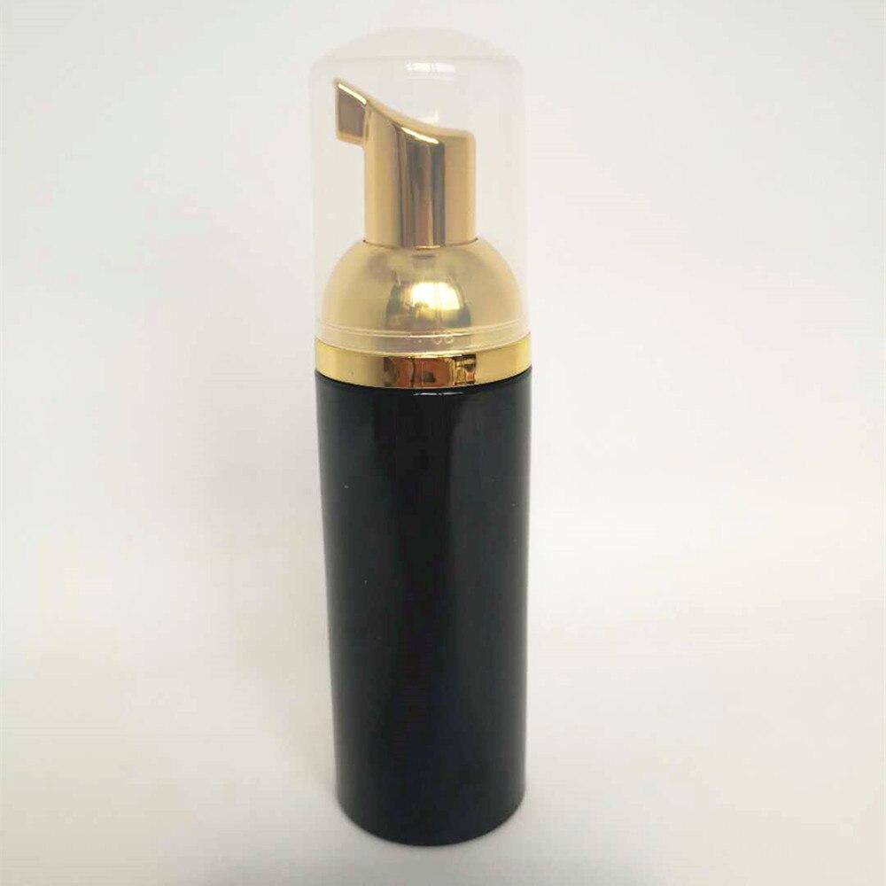 مضخة رغوة بلاستيكية سوداء قابلة لإعادة الملء ، 30 قطعة ، 60 مللي ، زجاجة فارغة لمستحضرات التجميل ، منظف للرموش ، موزع صابون ، زجاجة شامبو ذهبية
