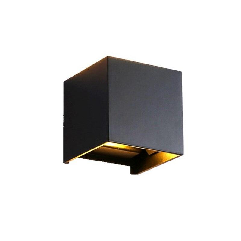 Dc 12 v 6 w led lâmpadas de parede de alumínio ao ar livre à prova dwaterproof água estilo nórdico moderno interior para cima para baixo luz da parede sala estar varanda jardim lâmpada