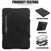 case for samsung galaxy tab s6 10 5 2019 shockproof hard case stand coverstrong military heavy duty silicone rugged for tab