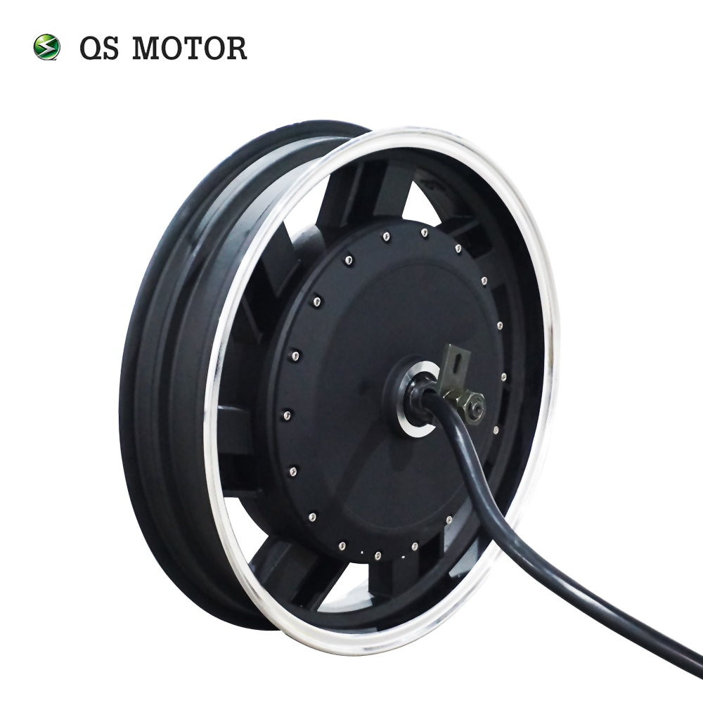 QSMOTOR-محرك دراجة نارية كهربائي عالي السرعة ، 17 × 3.5 بوصة ، 8 كيلو واط ، 8000 واط ، V3 ، V4120KPH