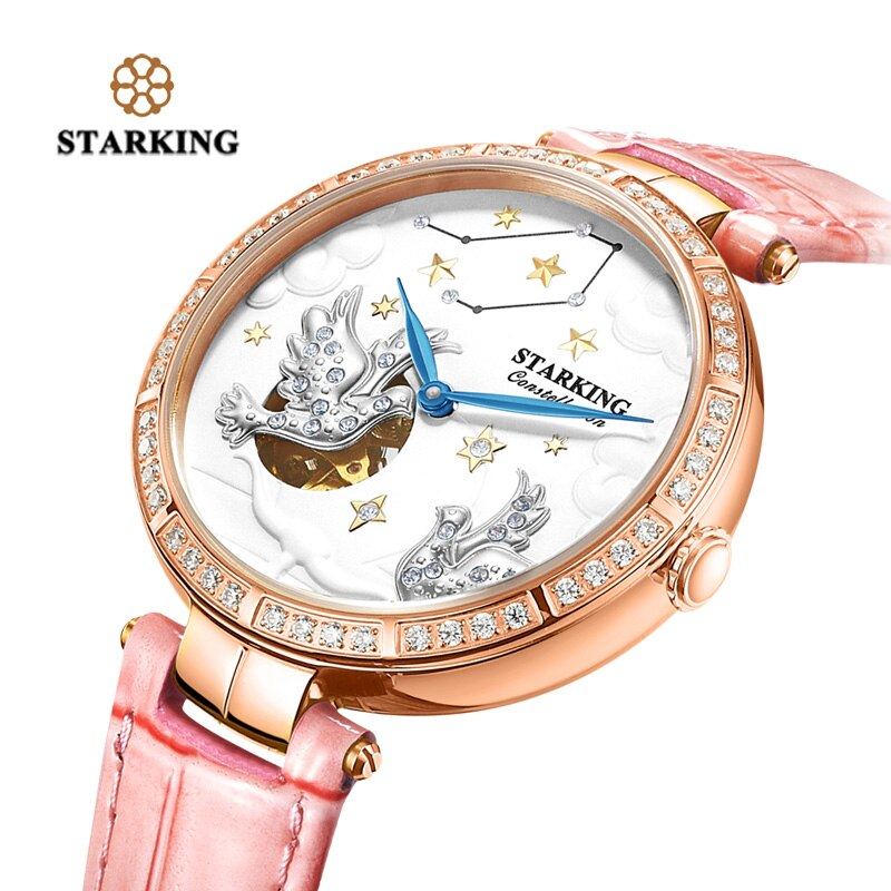 STARKING Women Watches Brand Luxury Leather Libra Constellation Ladies crown Watch Fashion Casual Simple Wristwatch Clock Women enlarge