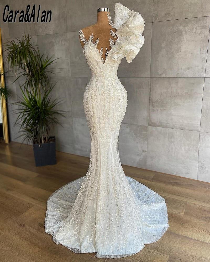 Vestidos de novia de sirena de lujo para novia, vestidos de novia...