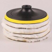 Polisseuse en laine blanche 8500 RPM 7 pouces   Tampons de polissage en marbre pour meubles de voiture