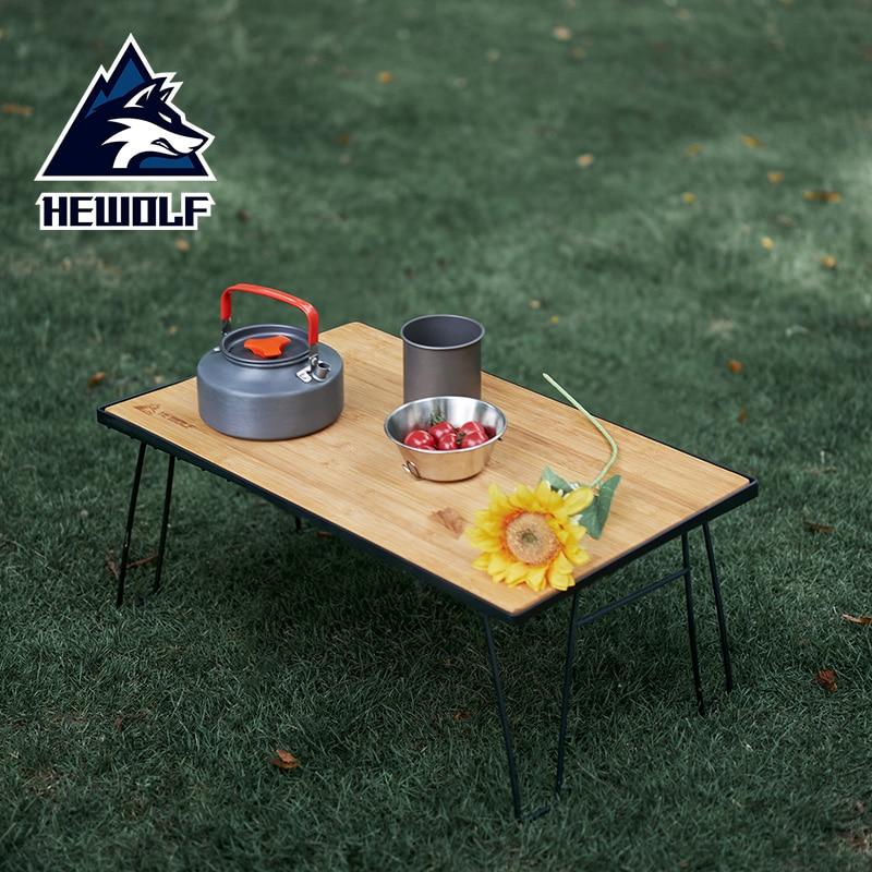 mesa plegable camping mesa playa mesa jardin exterior mesa de playa Hewolf Mesa Plegable para acampar al aire libre, Mini Mesa de pícnic portátil para playa, barbacoa, Mesa de mochilero, Plegable, novedad