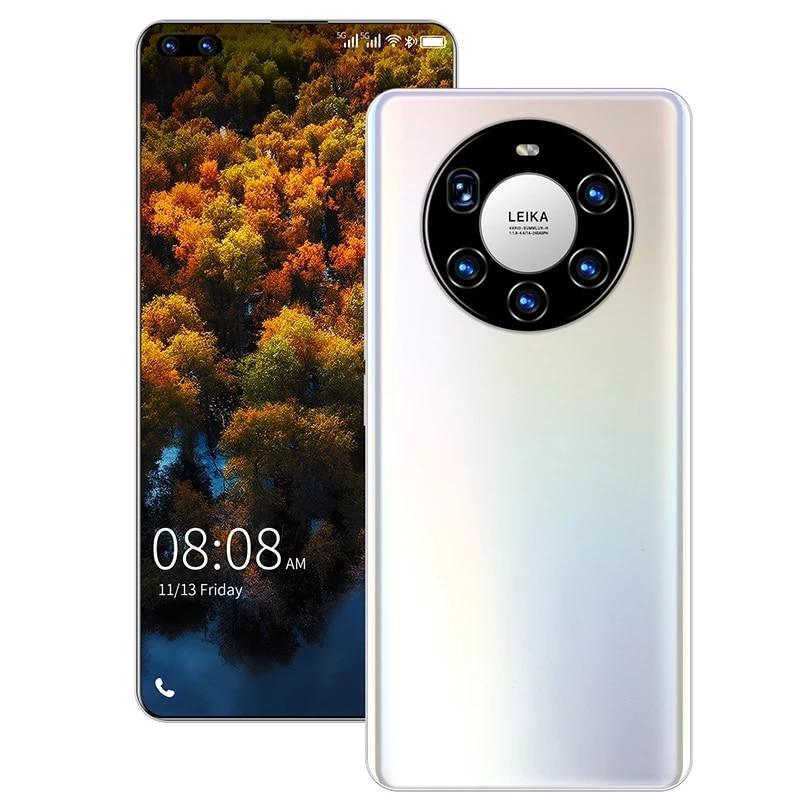 الإصدار العالمي من هاتف HUAWE Mate40 Pro + الذكي بشاشة كاملة معالج عشاري النواة 6000mAh شاشة 7.3 بوصة 12GB 512GB 4G LTE 5G شبكة الهاتف المحمول